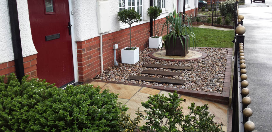 Indian Stone Paving in Moston, Manchester